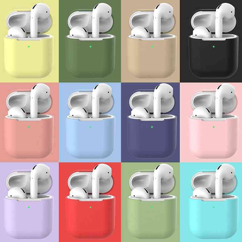 Silicone Earphone Case For Airpods, Shockproof Bluetooth Wireless Protective Cover, Skin Accessories