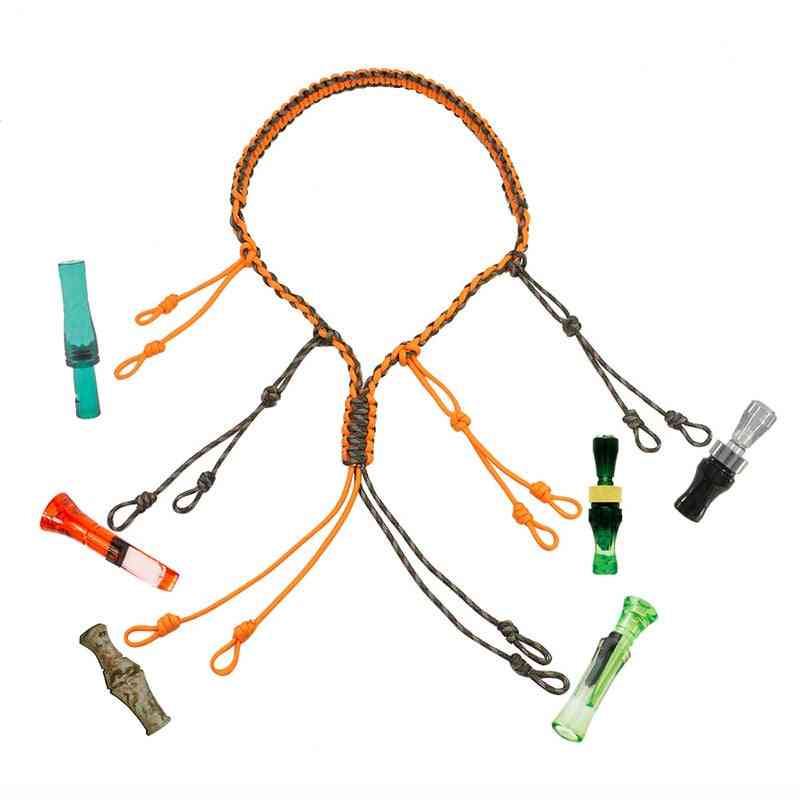 Decoy Rope Hunting Duck, Call Lanyard Cord - Rope With Adjustable Loops Rings