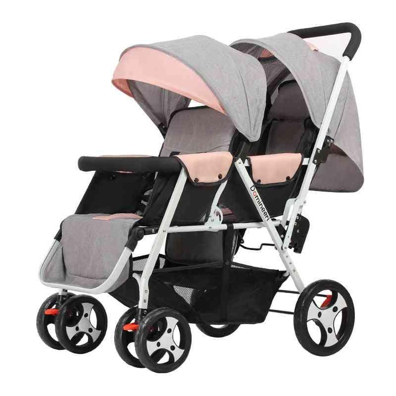 Twin Baby Lightweight Folding Front Rear Reclining Trolley, Stroller