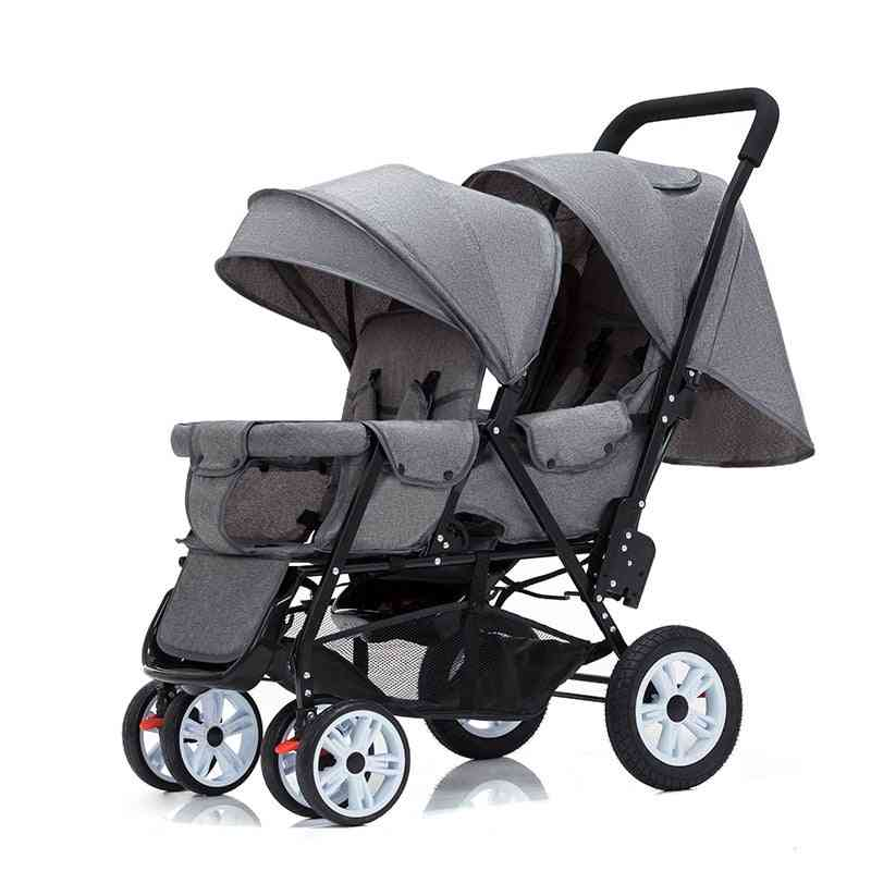 Twin Baby Four Wheel Highland Scape Lightweight Double Seat Carts
