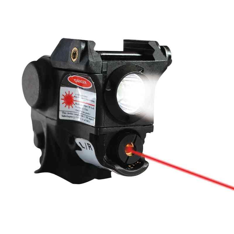 Tactical Pistola Flashlight Gun + Red Laser Sight