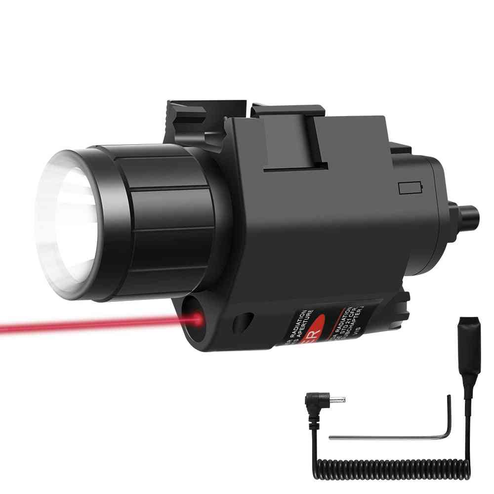 Tactical Led Weapon Gun Light, Flashlight With Remote Switch, Red Dot Laser Sight Military Airsoft Pistol