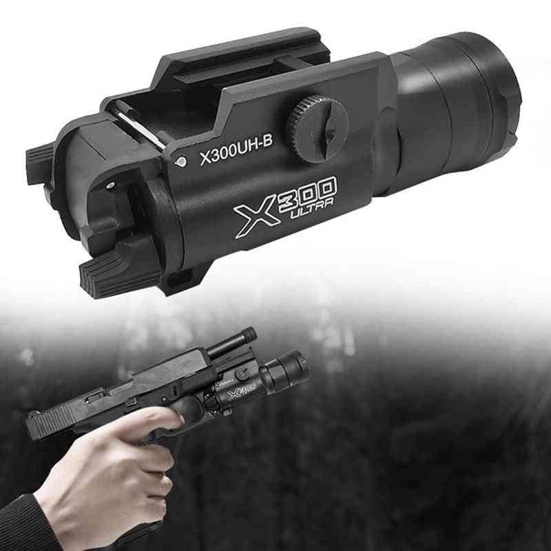 Tactical Weapon Light For Pistol, Gun, White Led Hunting Flashlight
