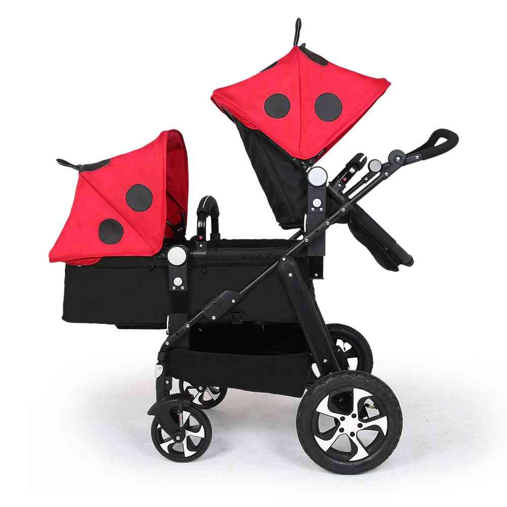 Twin Baby Car Cool Version Trolley, Folding Umbrella Carts, Double's Stroller