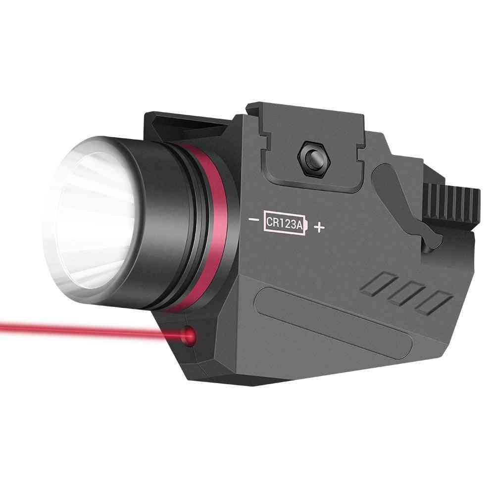 Tactical Led Weapon Gun Light, Flashlight Red Dot Laser, Sight Military Airsoft Pistol