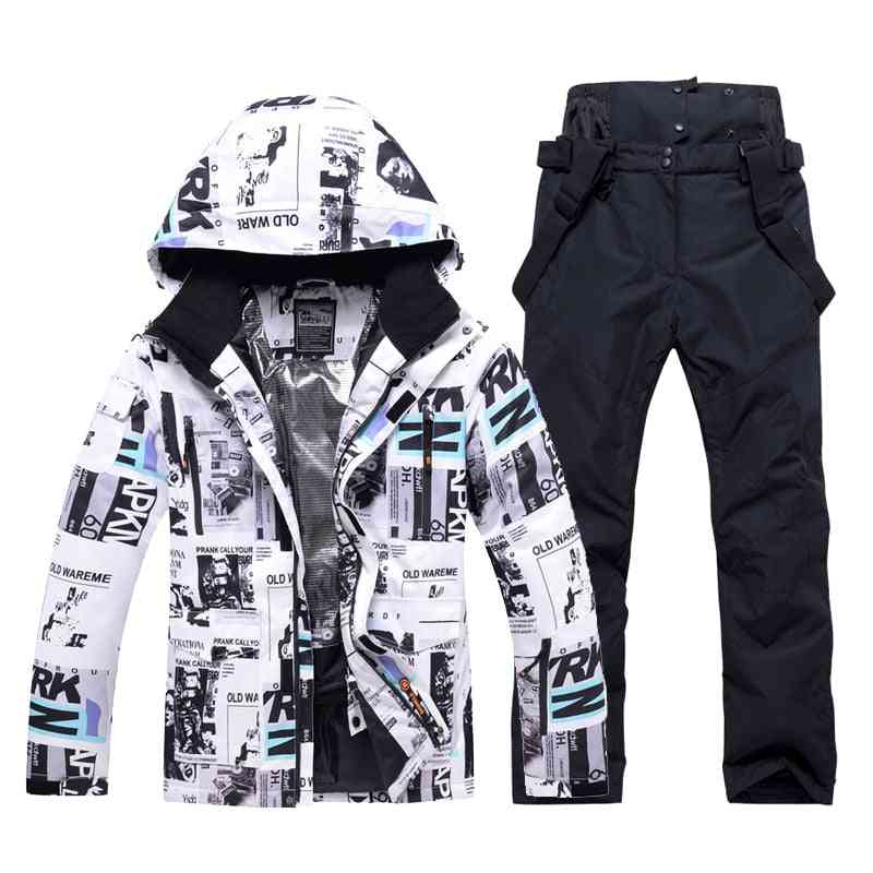 New Winter Ski Suit For Men Warm Waterproof Outdoor Sports Snow Jackets/pants Ski Snowboard Jacket