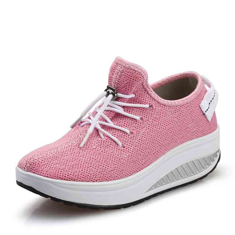 Women's Sneakers- Platform Toning Wedge Sports Shoes