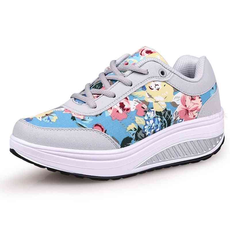 Women Breathable,  Flower Printed Comfortabletoning Shoes
