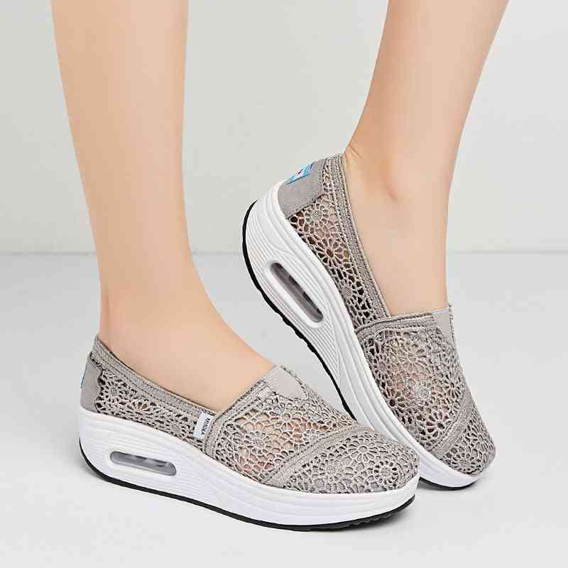 Breathable Mesh Walking Fitness Shoes