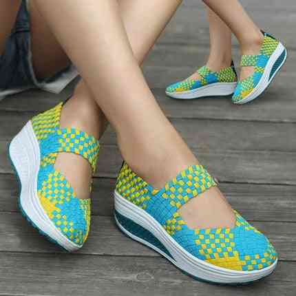 Woven, Breathable Slip-on Sneakers