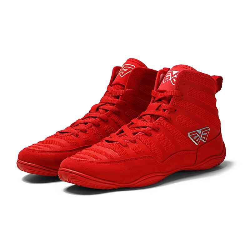 Men Professional Boxing Wrestling Shoes, Lace-up Training Fighting Boots