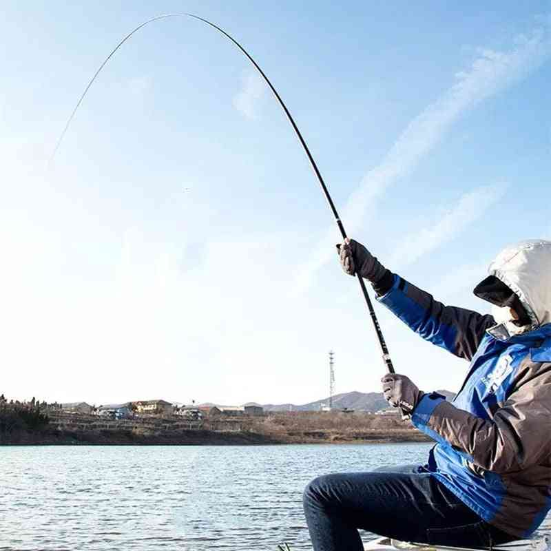 Carbon Fiber Telescopic Power Hand Pole Fishing Rod, Travel Ultra Light Carp Feeder