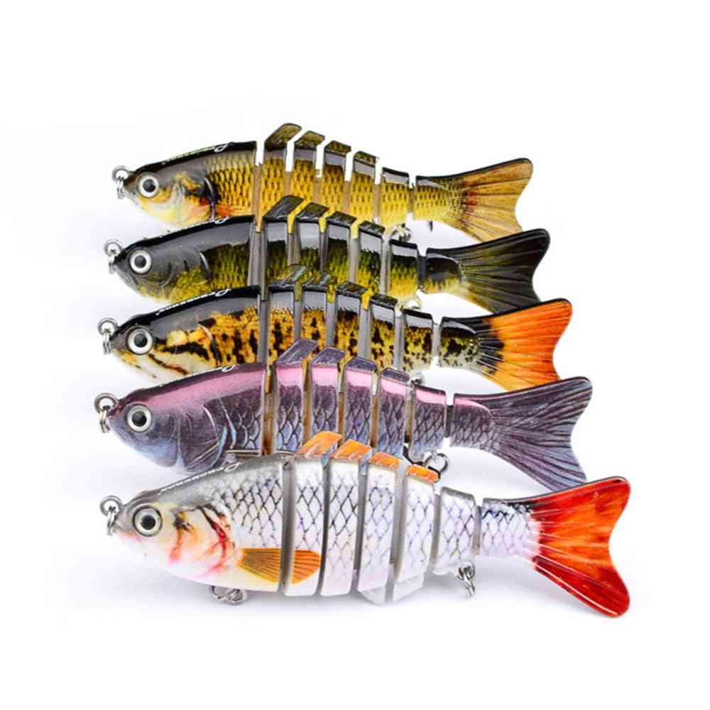 Artificial, Multi Jointed Sections, Hard Bait Trolling Pike Fishing Tool