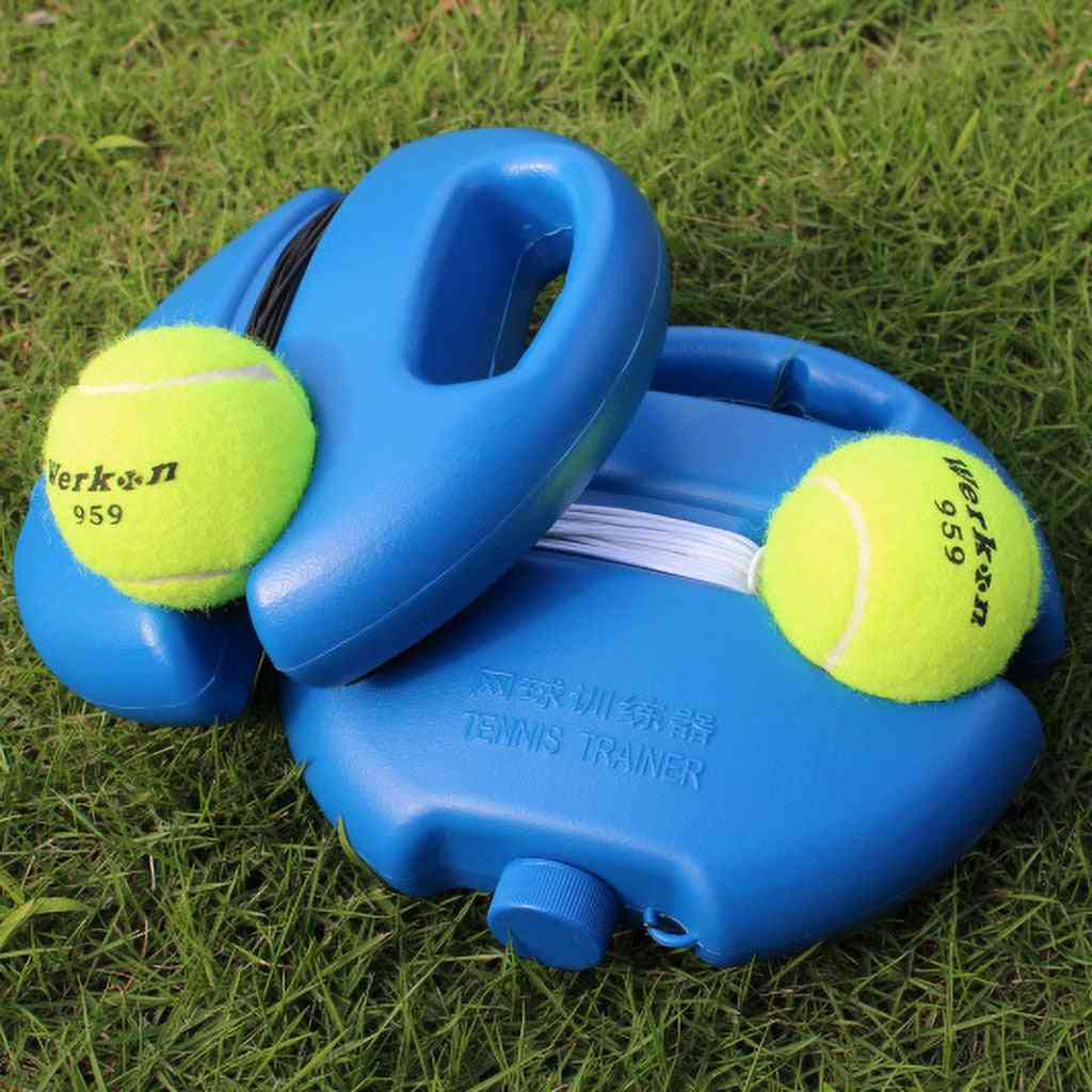 Portable Tennis Training Aids Tool, With Elastic Rope Practice Self-duty Trainer Device