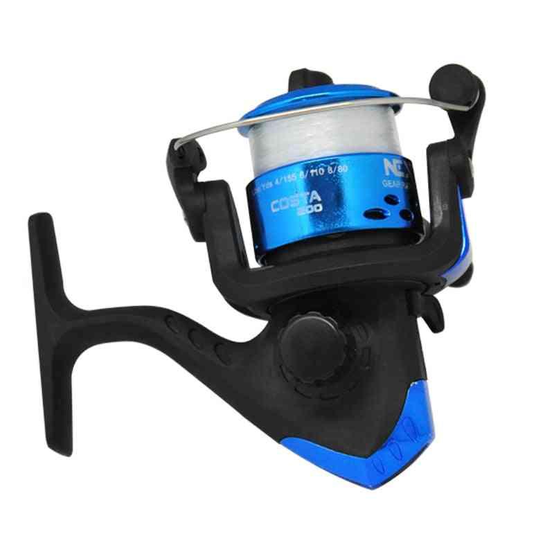 Fishing All Metal Spool Spinning Reel, Drag Stainless Steel Handle, Line Salt Water Accessories