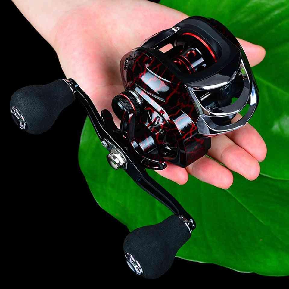 Fishing Bait Casting Reel All Metal Spool, Max Drag Force Speed Ratio