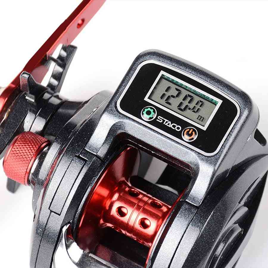 Fishing Reel Left / Right Hand Low Profile Line Counter Tackle Gear With Digital Display Carretilha Pesca