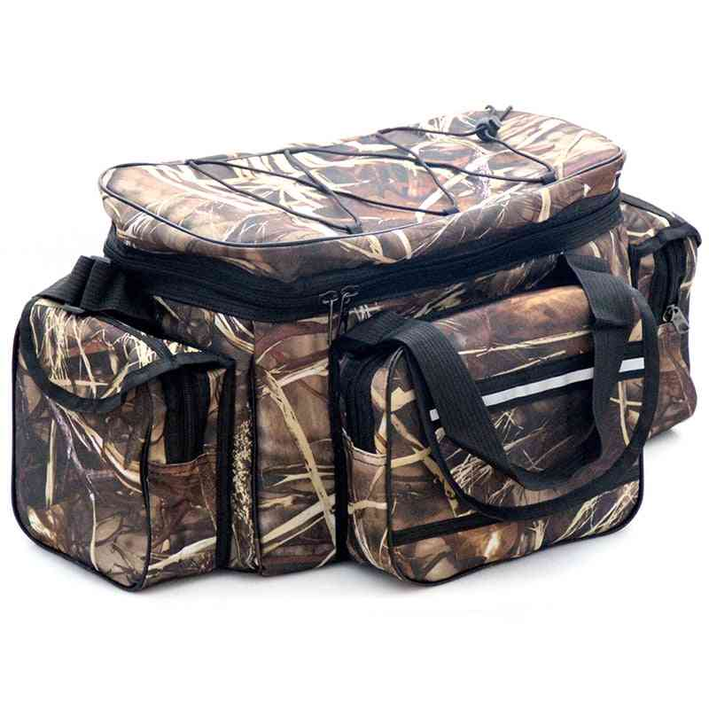 Waterproof Fishing Bag, Nylon Large Capacity, Multi-purpose Two-layer Outdoor Shoulder Pouch