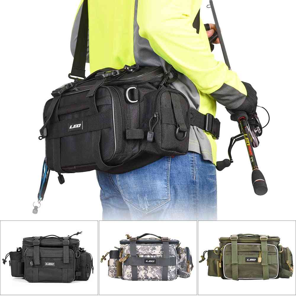 Bag For Fishing Case, Outdoor Sports Waist Pack Lures Gear Storage Backpack, Single Shoulder Cross Body