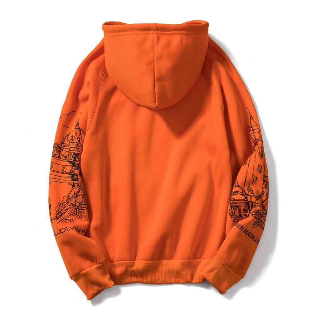 Autumn Printed,  Hooded  Pullover, Sweatshirts