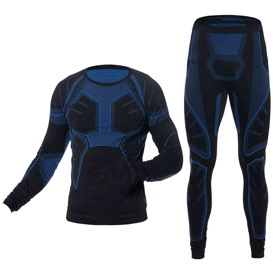 Men's Ski Thermal Underwear Sports Sets Quick Dry Tight Shirts Jackets Sport Suits