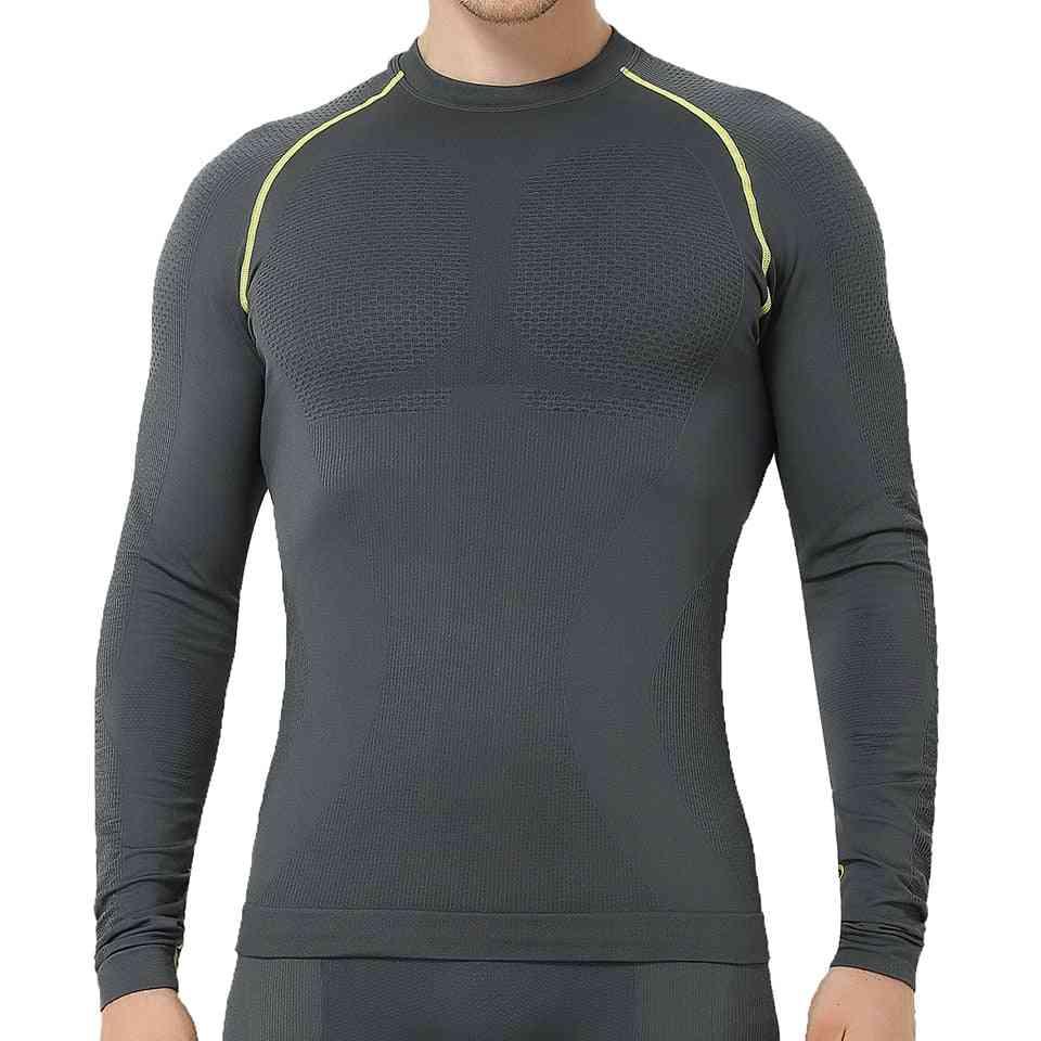 Men's Winter Gear Ski Thermal Underwear Sets Long Sleeve Shirts And Pants