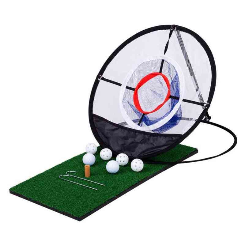 Indoor/outdoor Chipping Pitching, Cages Mats, Practice Net For Golf Training