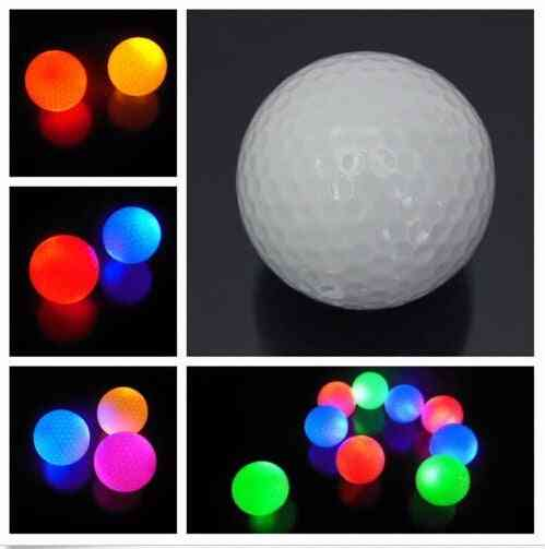 Light-up Flashing, Night Light, Glowing Fluorescence, Golf Balls For Golfing Gold Ball