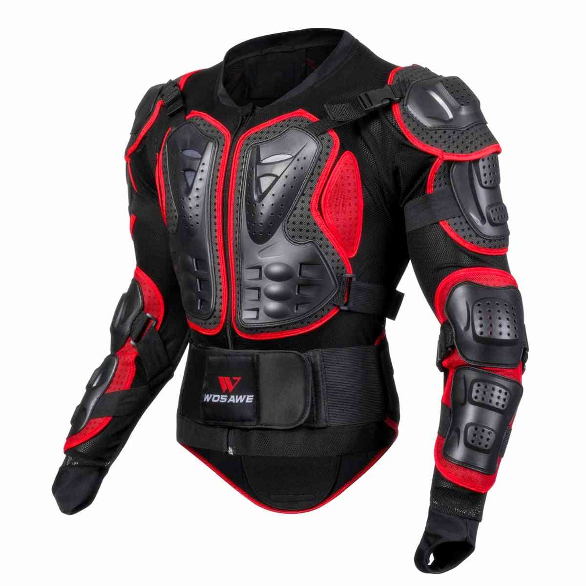 Men Full Body Armor Jacket, Motocross Racing Protective Gear Back Chest Shoullder Elbow Protection