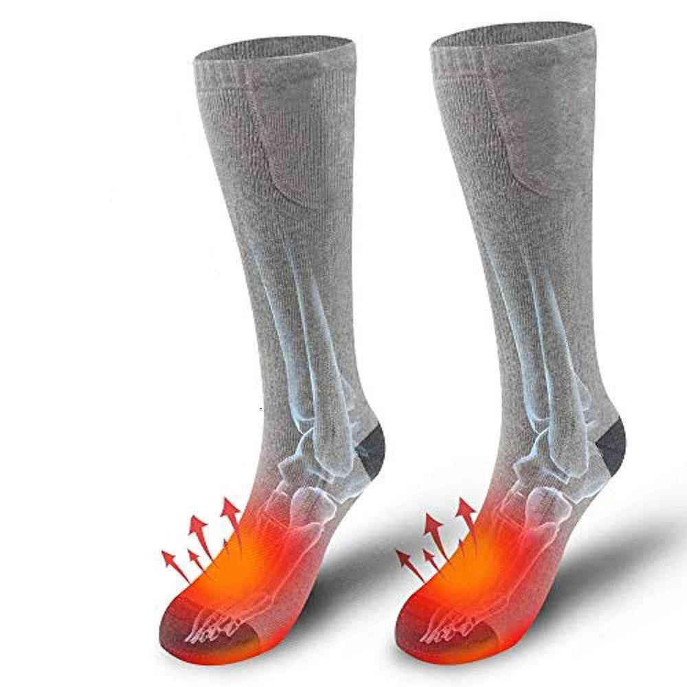 2 Lithium Battery+adjust Thermal Cotton Heated Socks Outdoor Winter Skiing Bicycle Foot Warmer