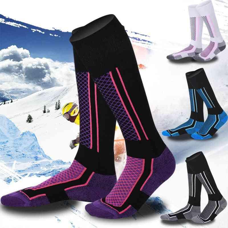 Thick Cotton Sports Snowboard Cycling Skiing Socks - Men Women High Elastic Thermosocks
