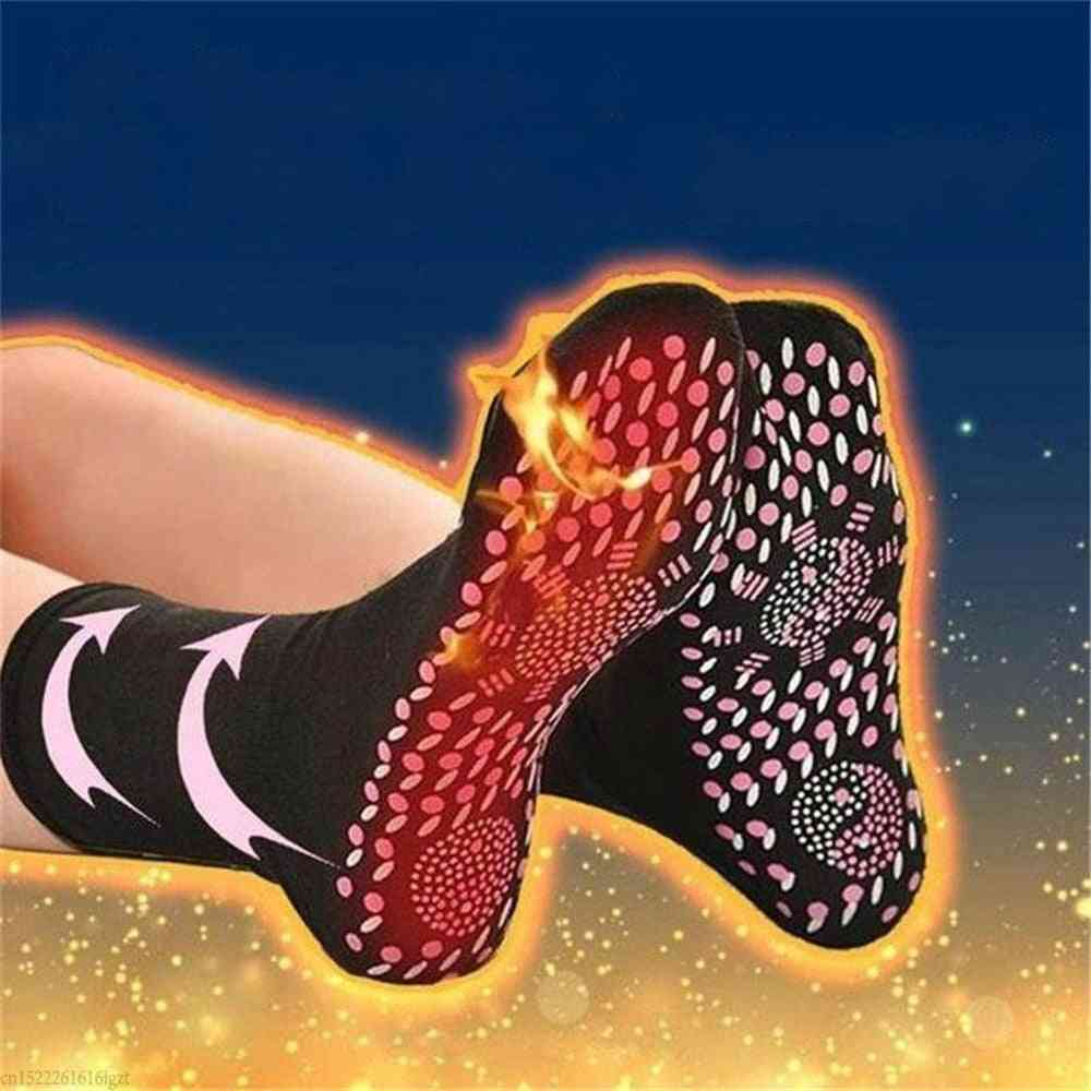 Self Heated, Magnetic Therapy, Comfortable Winter Massage Socks/women