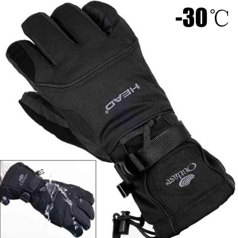 Men's Fleece Snowboard Gloves - Snowmobile Motorcycle Riding Winter Snow Gloves
