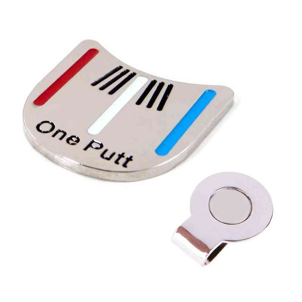 Golf Ball Marker With Magnet Cap Clip