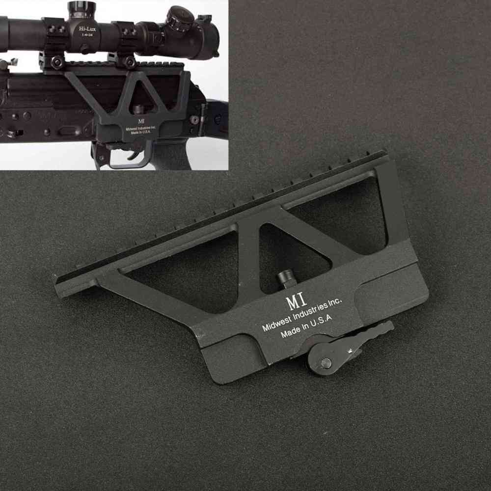 Quick Detach Side Dot Scope Mount For Ak 47 Hunting Airsoft Rifle Gun Accessories