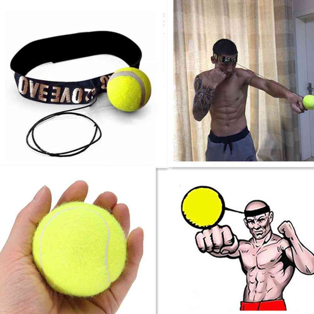 Fight Ball With Elastic Head Band -training Boxing, Punch Exercise