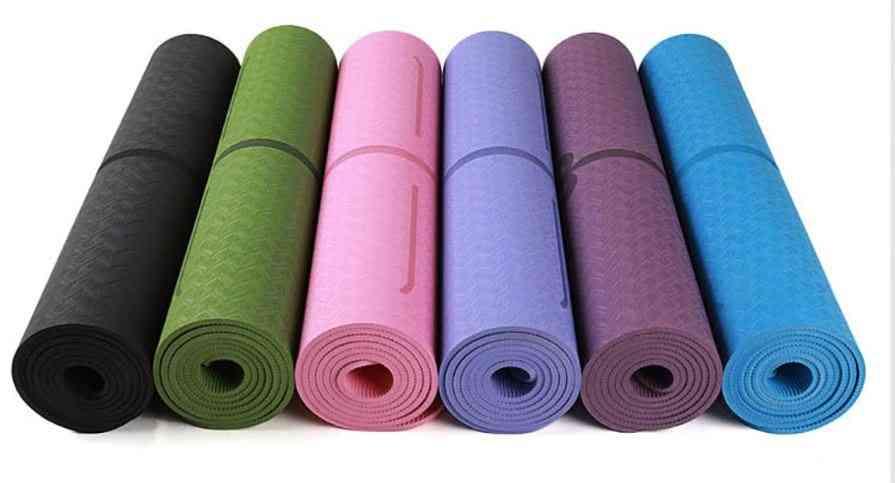 Non-slip Yoga Mat With Position Line For Beginner, Fitness Gymnastics
