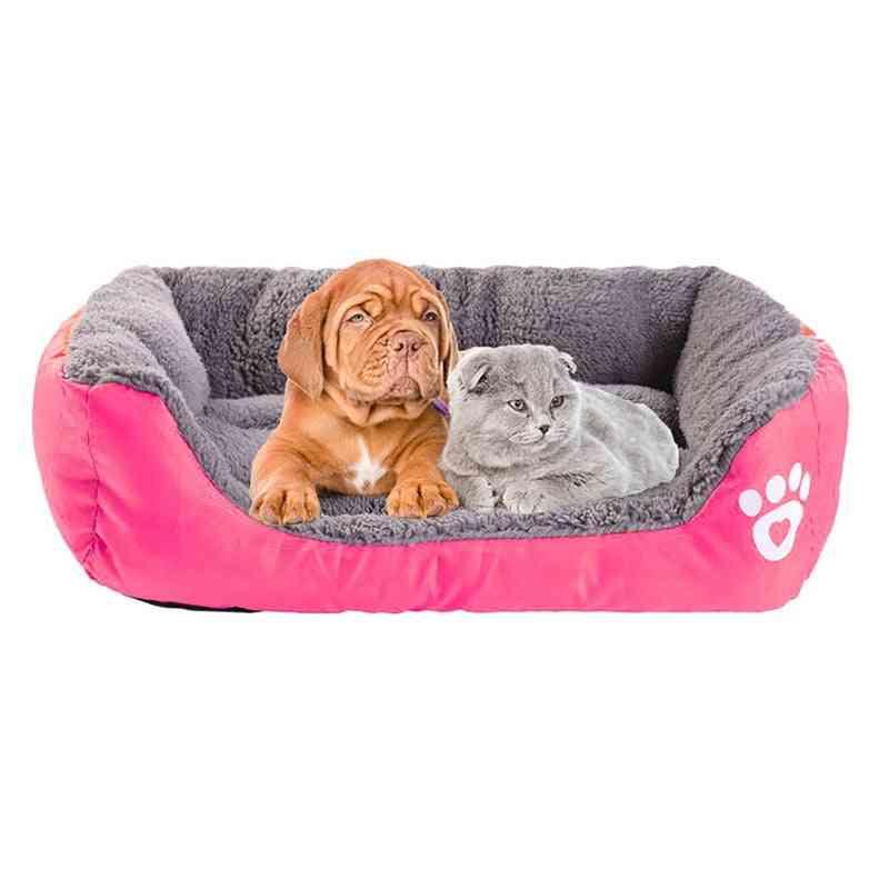 Waterproof Cozy Dog Bed, Soft Fleece Nest Baskets For Pets