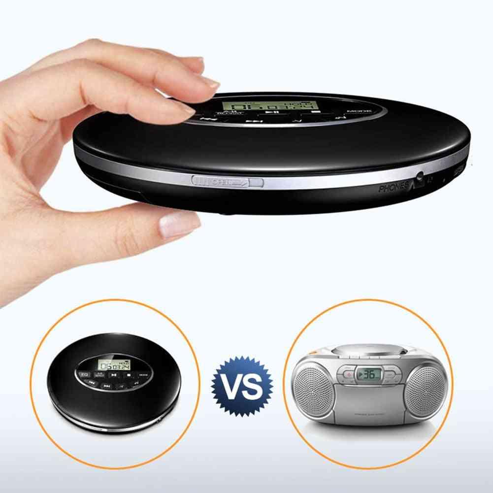 Fashion Portable Cd Player Bluetooth Shockproof Anti-skip Personal Lcd Display