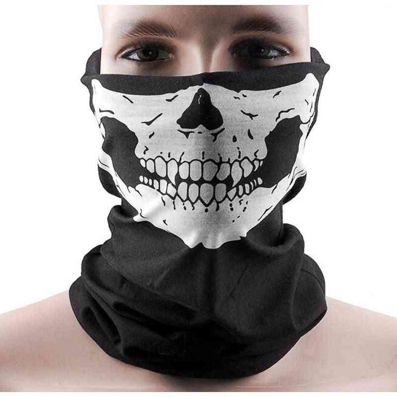 Skull Print Neck Face Mask For Sun Protection