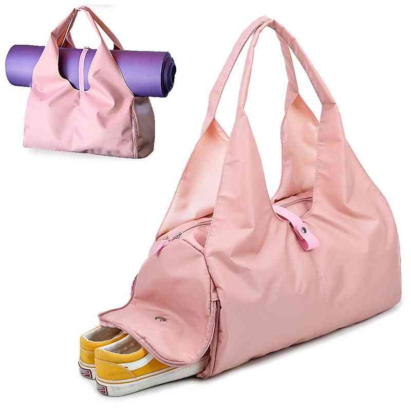 Yoga Mat, Gym Fitness Training Sport Bag With Shoe Compartment