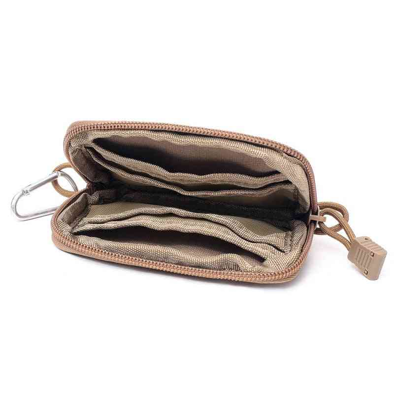 Portable Coin Purse Wallet, Travel Set Card Slot Tactical Key Bag