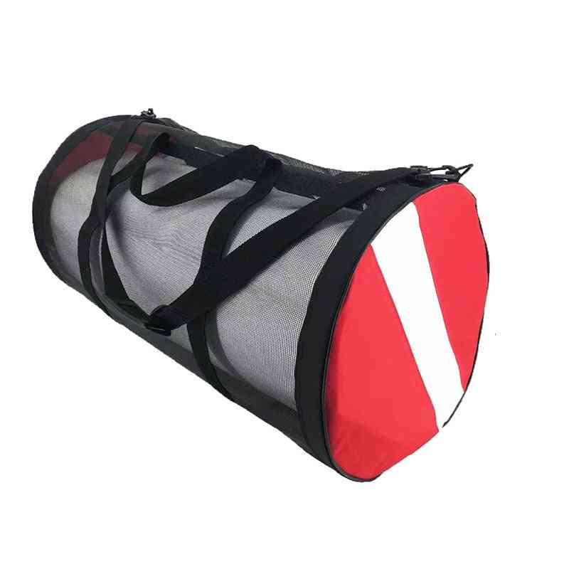 Dive Flag Scuba Swim Mesh Gear Bag, Storage Carrying Shoulder Backpack