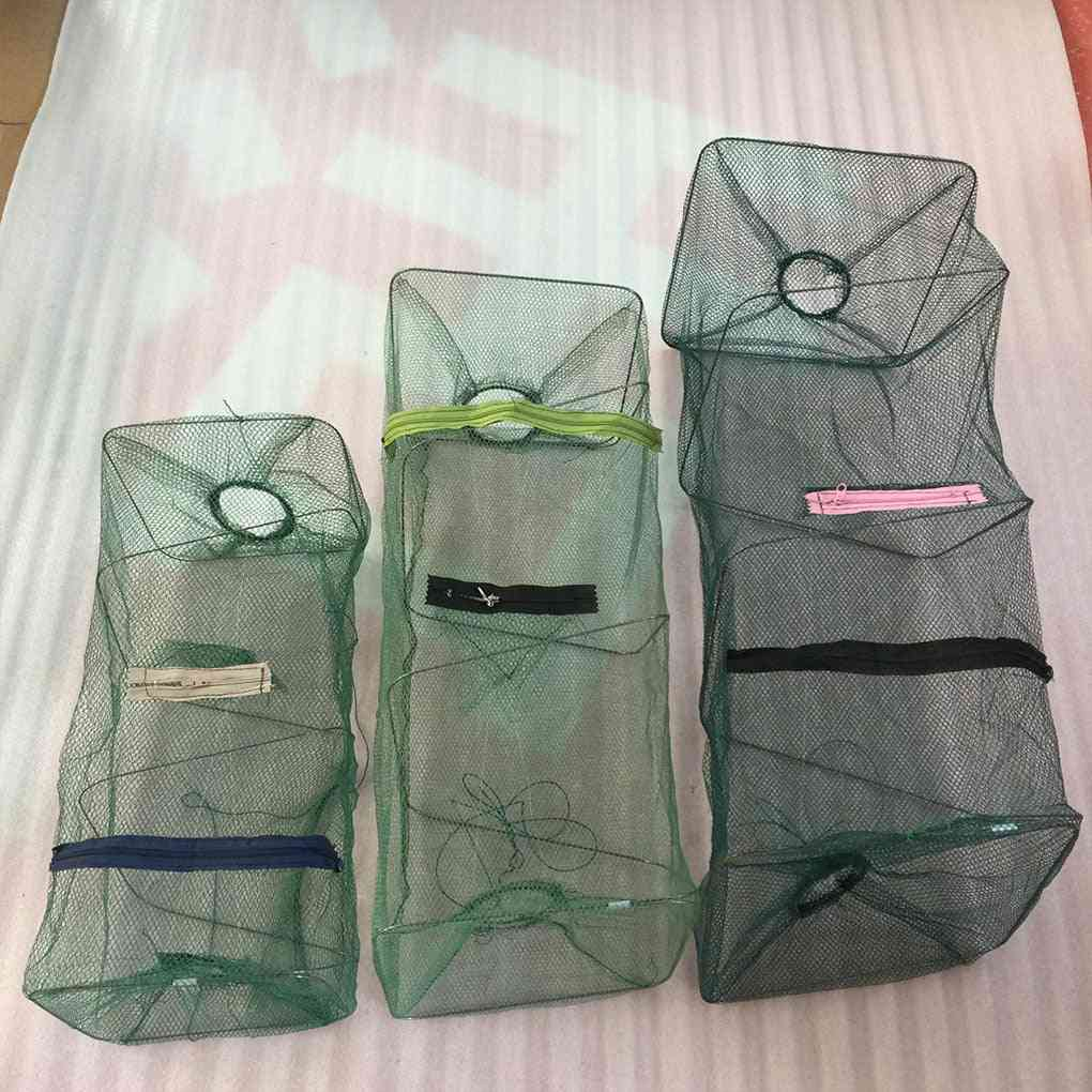 Hand Foldable Trap Cage/fishing Net For Crab /crayfish/ Lobster/ Shrimp/prawn,