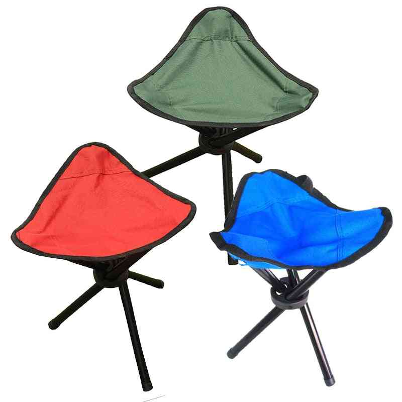 Portable Folding Three-legged Stool Chair Seat For Camping, Picnic Foldable, Outdoor Tool