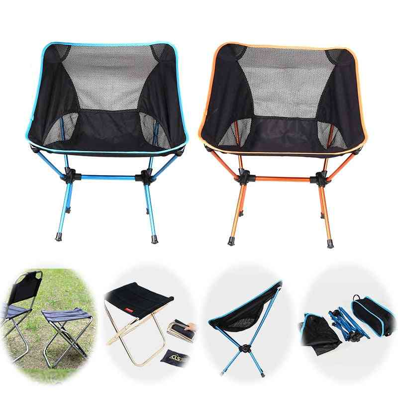 Folding Beach Chair, Outdoor Camping For Hiking Fishing Picnic Barbecue Casual Garden Seats