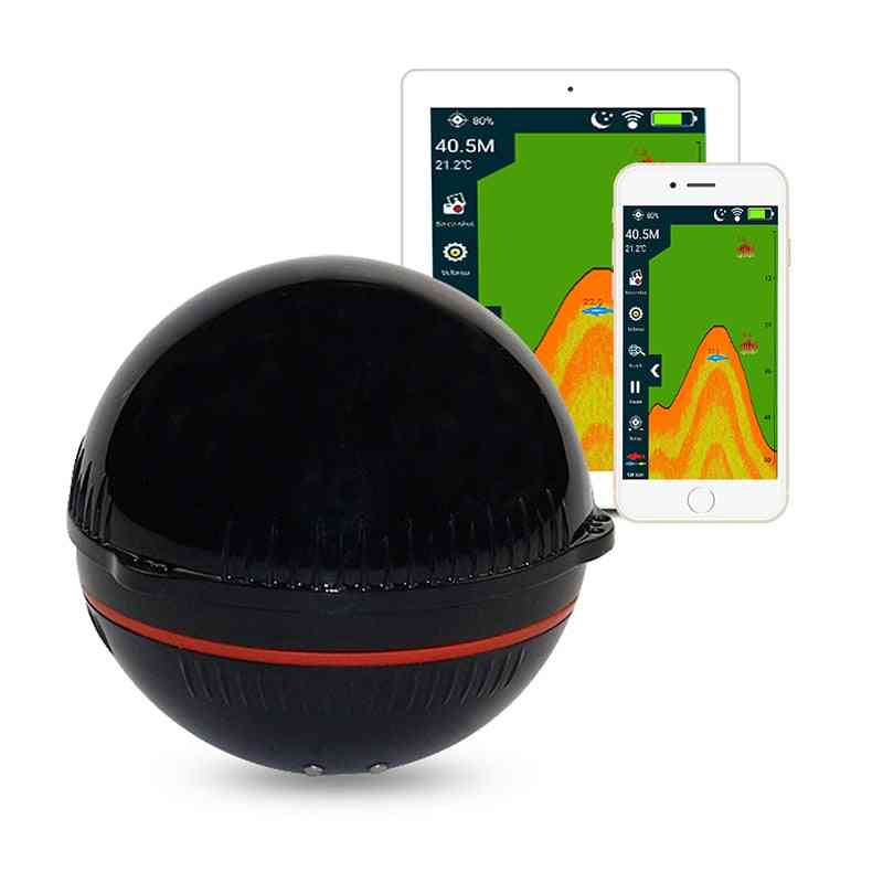 Portable Sonar Fish Finder, Bluetooth, Wireless, Depth Sea Lake Detect, Echo Sounder