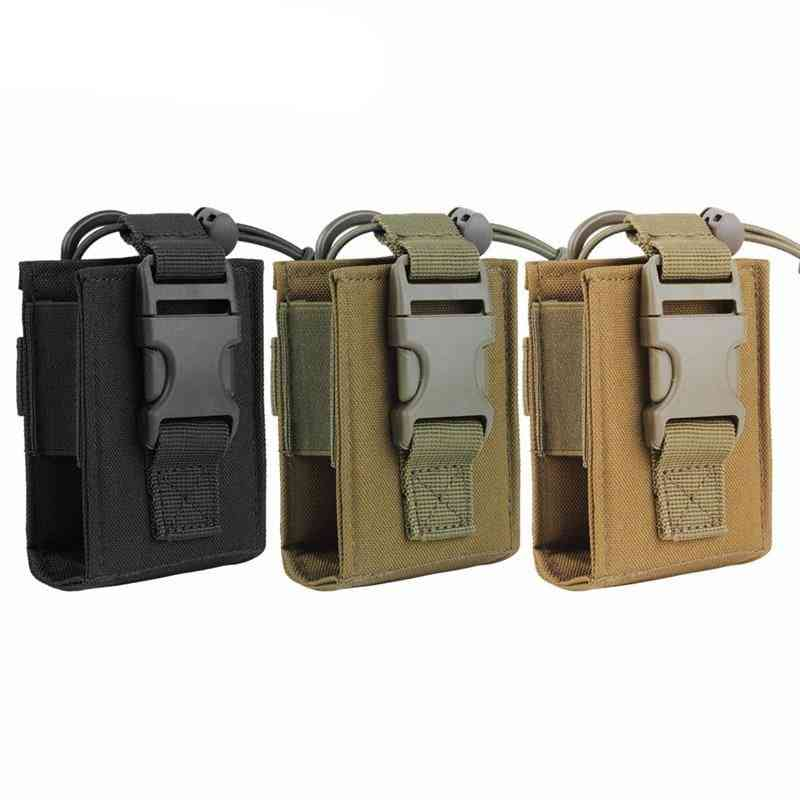 Tactical Molle Walkie Talkie Pouch, Interphone Storage Bag Outdoor Radio For Military