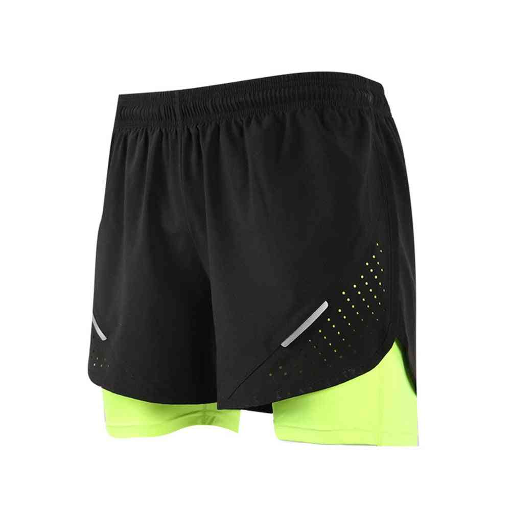 Men's 2 In 1 Training Exercise Shorts