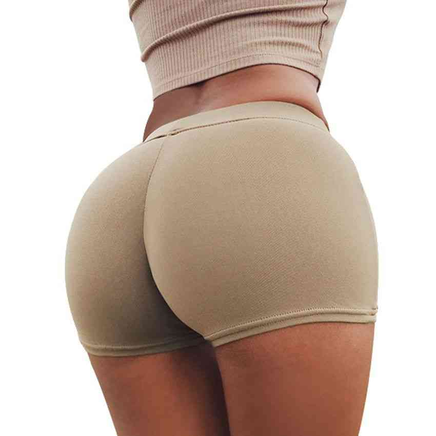 Summer Wear Peach Hips Shorts - Athletic Workout Gym Shorts Women